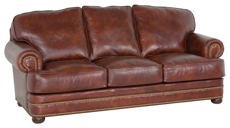 loveseat sleeper sofa Family Room Traditional with American made furniture Custom Leather Furniture hide away beds high end furniture