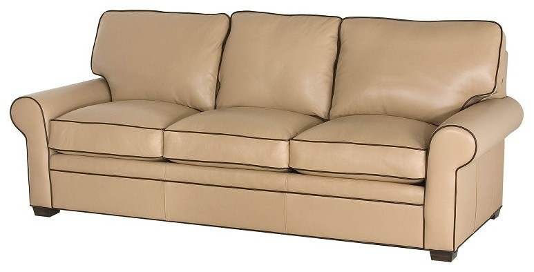 Loveseat Sleeper Sofa Living Room Transitional with American Made Furniture Custom Leather Furniture Hide Away Beds High End Furniture