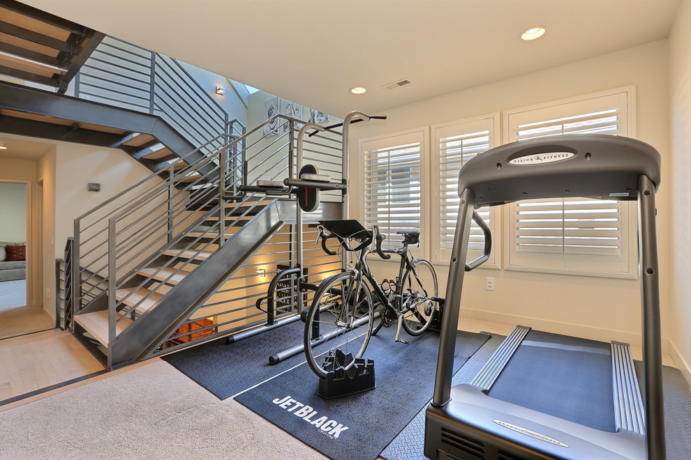 Manual treadmill kitchen modern with beach house