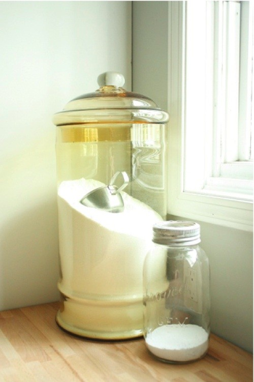 Mason Jar Beverage Dispenser Laundry Room Eclectic with Apothecary Jars Glass Jar Laundry Mason Jar Organizing Storage