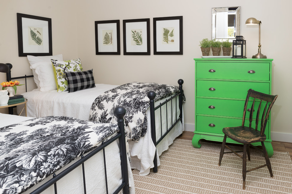 Matelasse Coverlet Bedroom Beach with Black Bed Frames Botanical Prints Bright Green Dresser Coastal Cottage Distressed Side