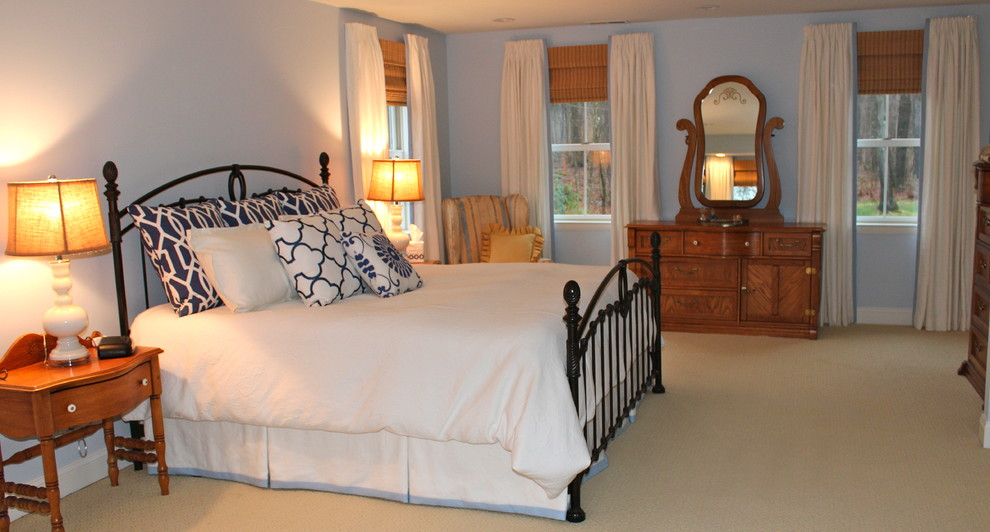 Matelasse Duvet Cover Bedroom Traditional with Beacon Hill Fabric Benjami Moore Sheer Bliss Blue Walls Custom Draperies Dust1