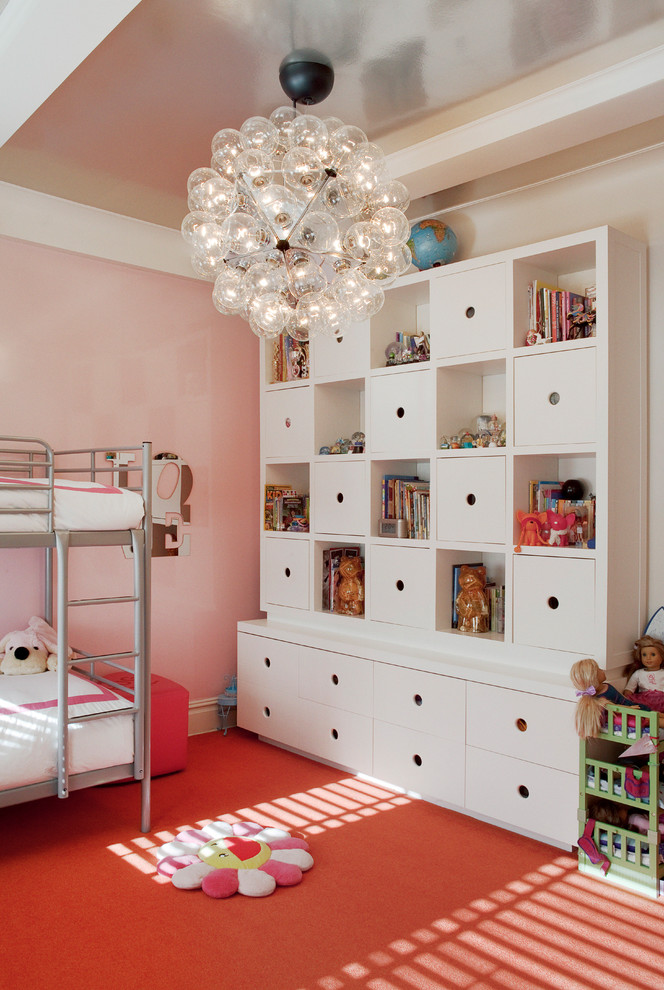 Metal Bunk Beds Kids Contemporary with Bubble Chandelier Bunk Beds Clustered Bubble Chandelier Cubbies Dolls Girls Bedroom Girls1