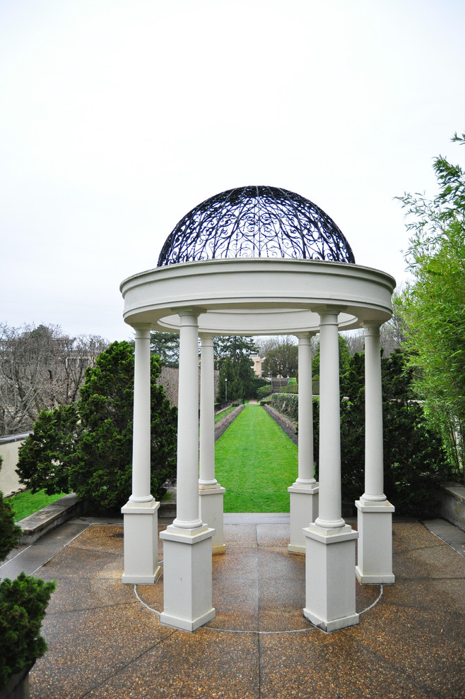 metal gazebo Exterior Traditional with none