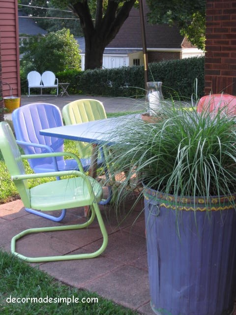 Metal Trash Cans Deck Eclectic with Deck Outdoor Dinning Outdoor Rooms Outdoor Spaces Patio Vintage Chairs