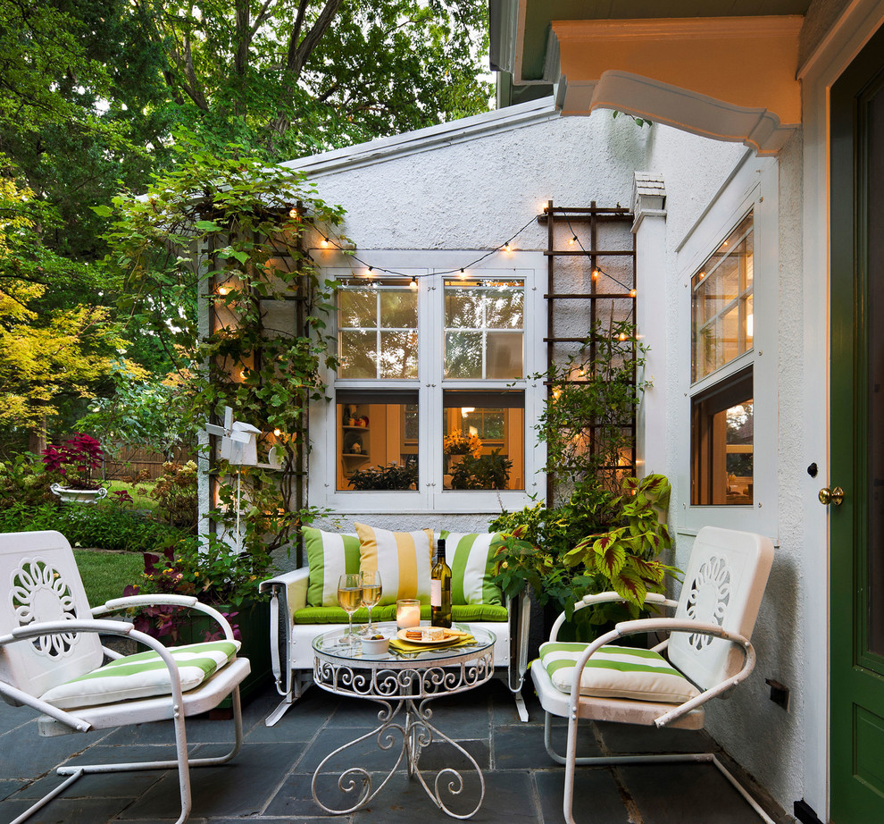 Metal Trellis Patio Traditional with Black Stone Floor Black Stone Patio Brice Gaillard Stylist Chairs Exterior Francis