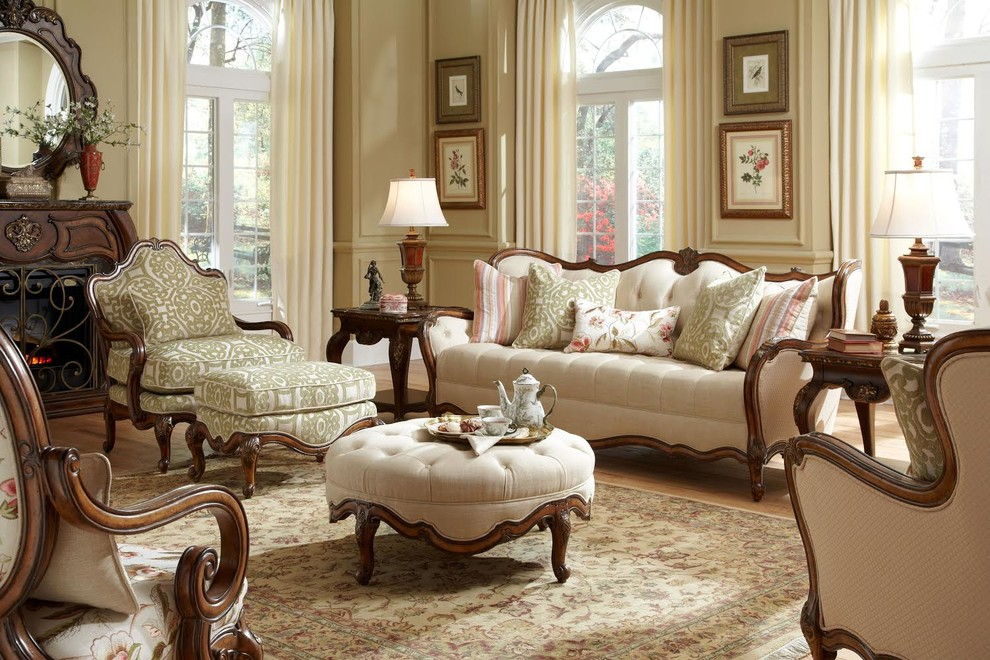 michael amini Living Room Traditional with classic sofa classic sofa set living room set traditional design traditional living