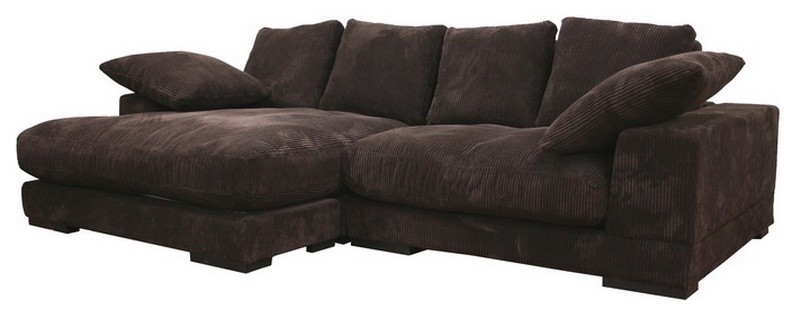 Microfiber Sectional Family Room Modern with Baxton Studio Panos Baxton Studio Td8312 Contemporary Brown Microfiber Sectional Sofa With