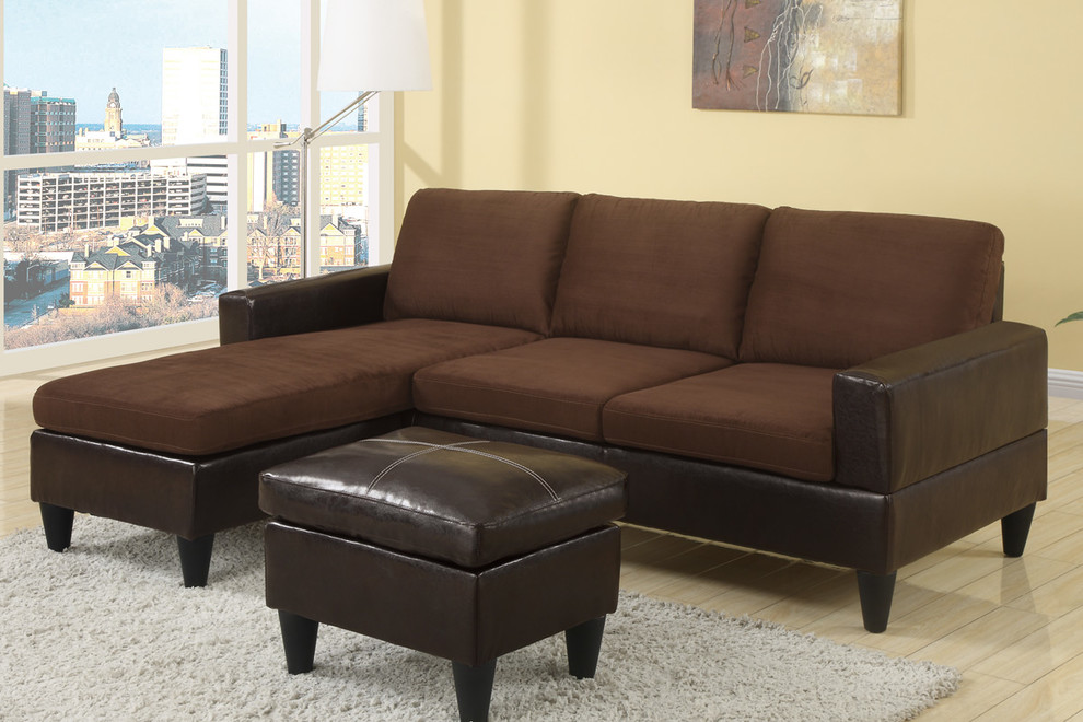 Microfiber Sectional Living Room Modern with Cheap Sectional Chocolate Microfiber Sectional Sofa Poundex Bobkona Sectional Poundex F7291 Sectional