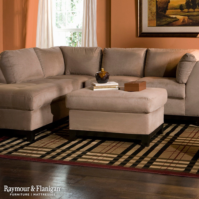 Microfiber Sectional Sofa Living Room with None
