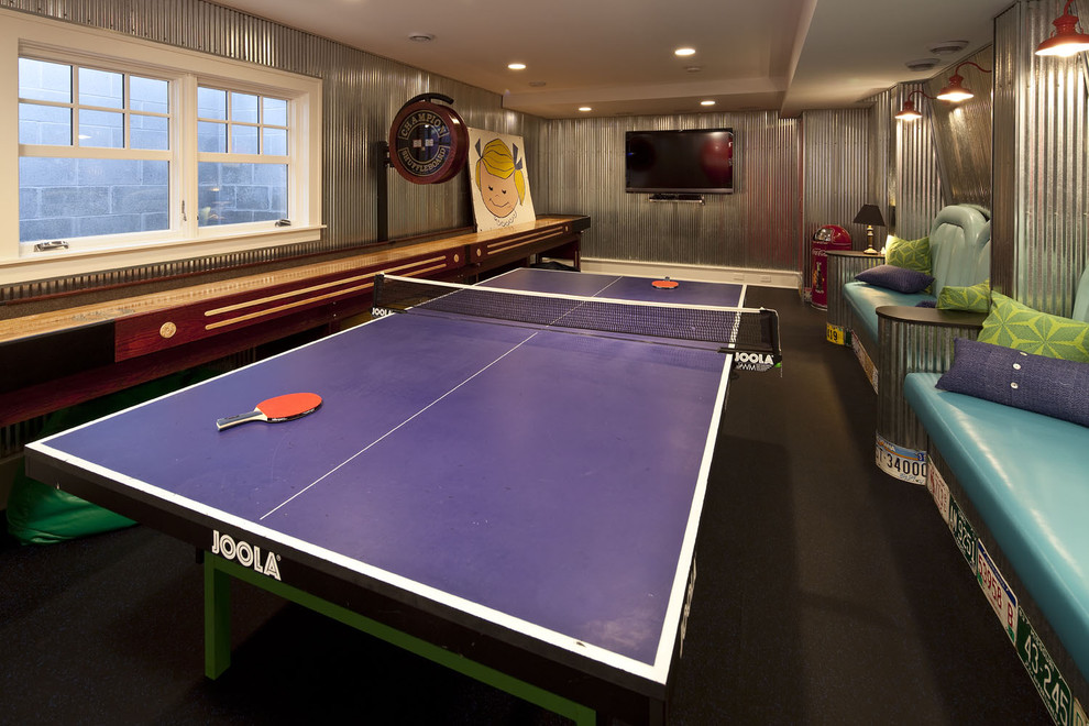 Microfiber Sheets Review Family Room Traditional with Built in Bench Seats Corrugated Metal Galvanized Metal Game Room License Plates