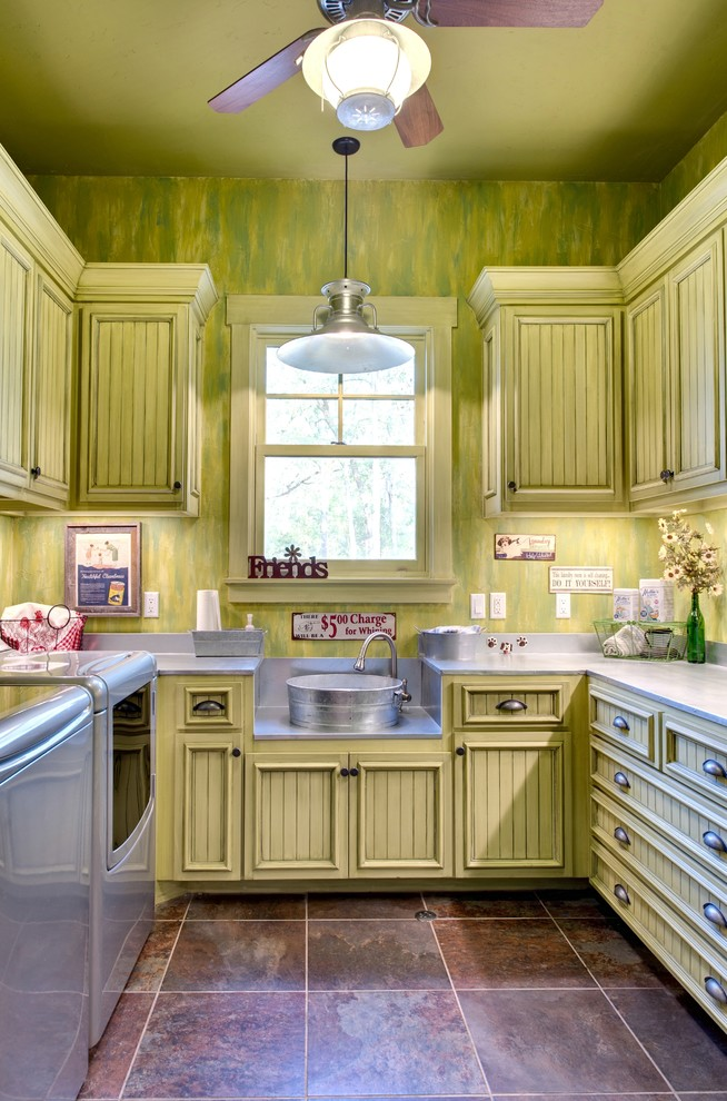 Microfiber Sheets Review Laundry Room Rustic with Barn Lamp Beadboard Cabinets Bucket Sink Ceiling Fan Custom Cabinets Faux Finished