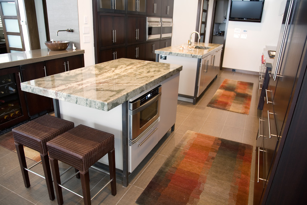 microwave carts Kitchen Contemporary with none