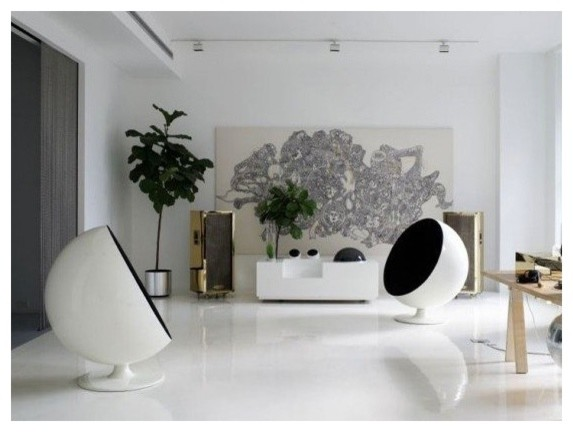 Mid Century Lounge Chair Living Room Modern with Ball Chair Ball Chair Replica Ball Chair Reproduction Contemporary Artwork Living Room1
