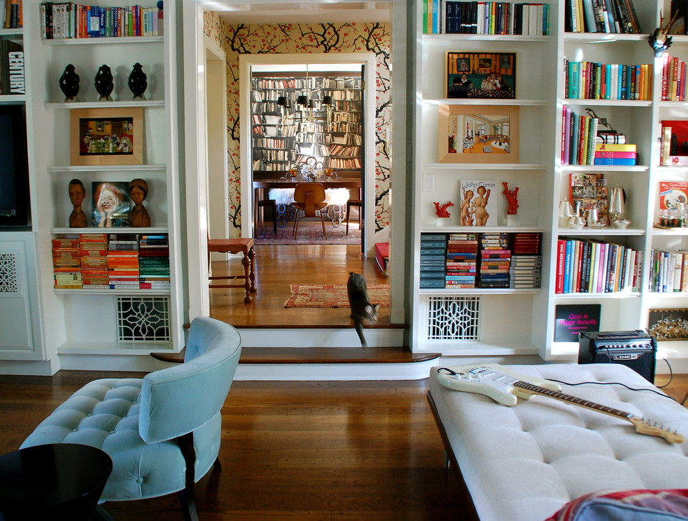 Mighty Mite Vacuum Living Room Eclectic with Bookcase Bookshelves Built in Shelves Cat Eames Library Sunken Living Room Tufted