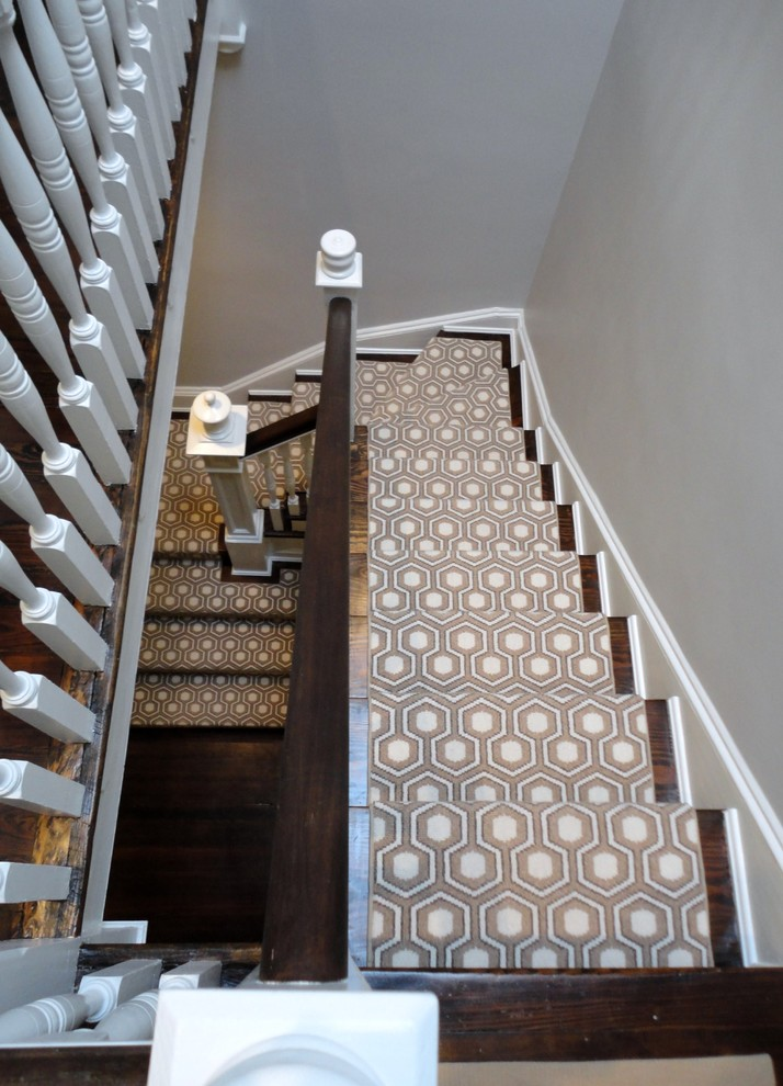 Milliken Carpet Staircase Transitional with Carpet David Hicks Stairs