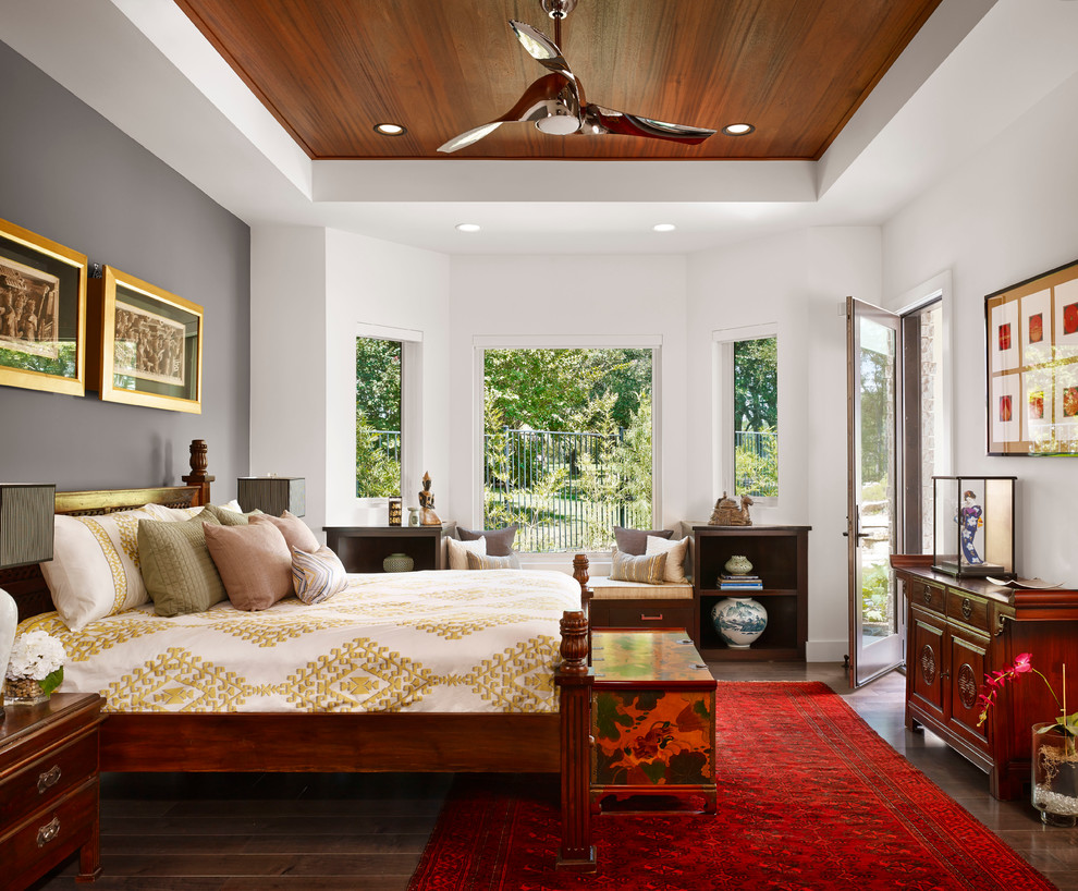 minka lavery lighting Bedroom Asian with asian contemporary asian decor asian trunk blue willow urn ceiling fan dark