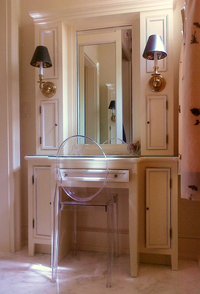 Mirror Jewelry Cabinet Bathroom Traditional With Addition Award Winner Built  In Vanity Classical Architecture Cozy Ghost Chair Informal Makeup
