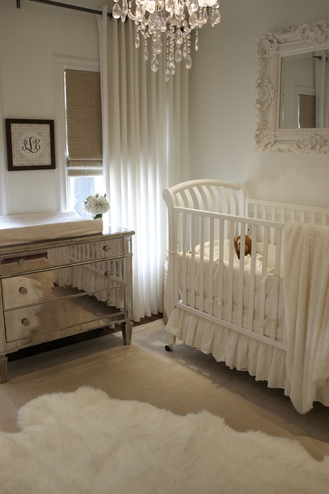 Mirrored Chest Nursery Traditional with Changing Table Chest of Drawers Crib Crib Bedding Curtains Drapes Dresser Ideas