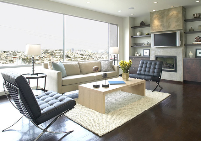 Mirrored Console Living Room Contemporary with None