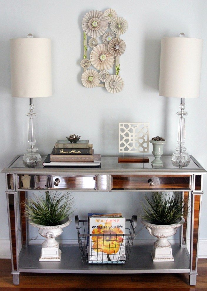 mirrored console table Entry Eclectic with console table entry mirrored table Pier 1
