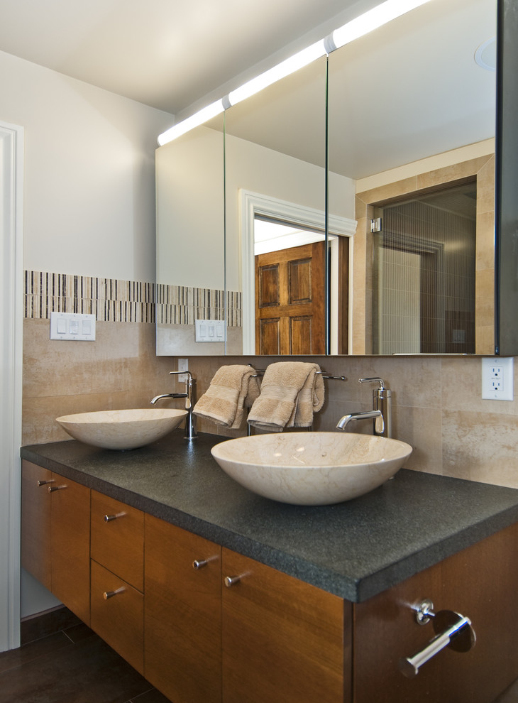 Mirrored Medicine Cabinet Bathroom Transitional with Bathroom Hardware Bathroom Mirrors Double Sinks Double Vanity Floating Vanity Medicine Cabinets