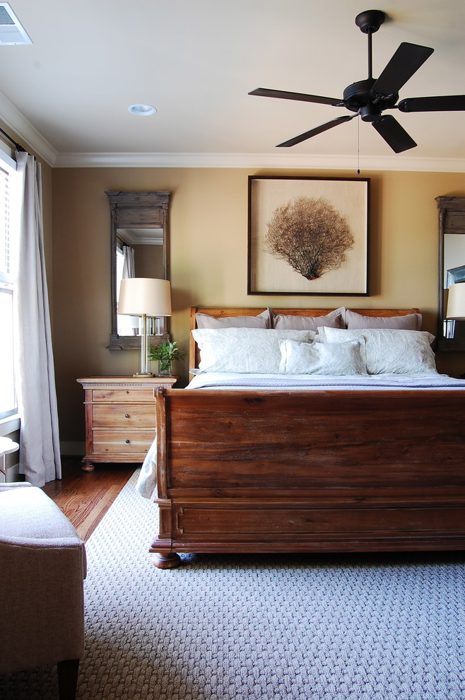 Mirrored Night Stand Bedroom Beach with Area Rug Ceiling Fan Lake Lake House Master Bedroom Mirror My Houzz