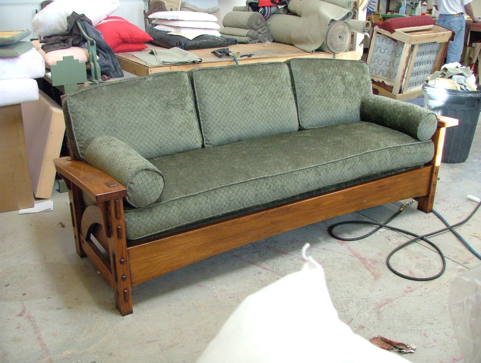 Mission Style Sofa Classic Stickley Style Mission Oak High Back Leather Sofa Settle Mission