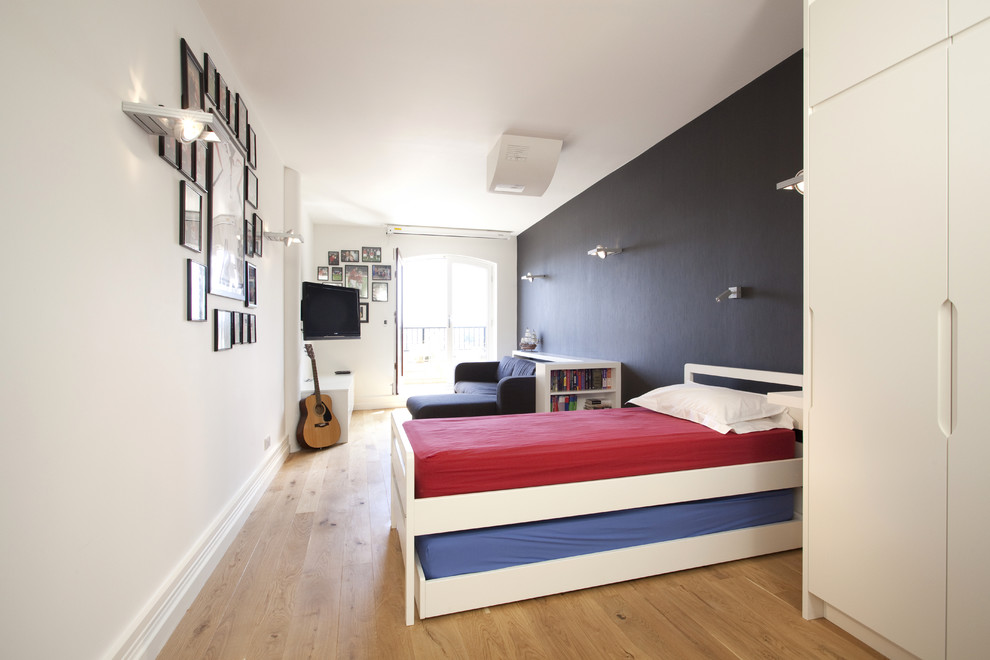 Modern Armoire Kids Contemporary with Bedroom Ideas for Teen Boys Black Wall Blue Bedroom Built in Storage Cool