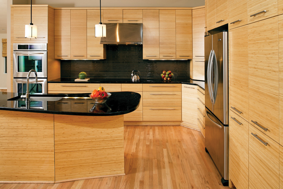 Modern Cabinet Pulls Kitchen Contemporary with Beige Wall Black Countertop Black Tile Backsplash Contemporary Cooktop Crystal Deep Kitchen