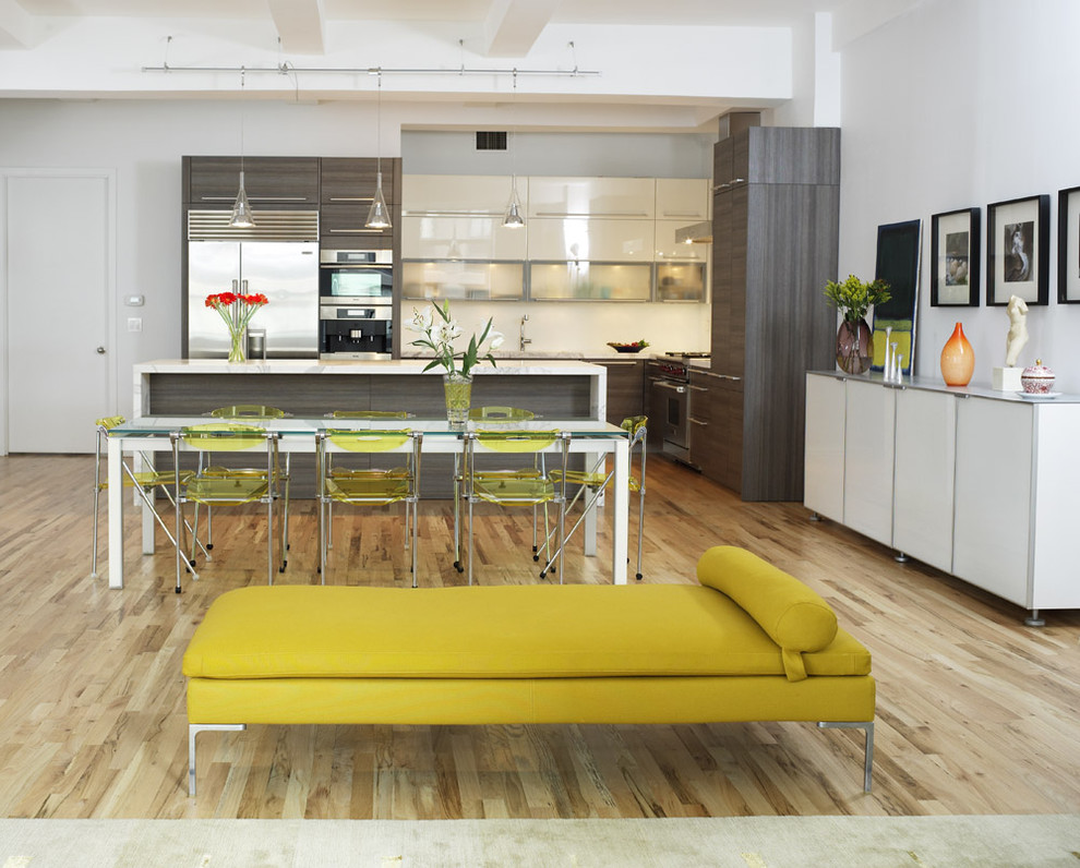 Modern Daybed Kitchen Contemporary with Buffet Chairs Chartreuse Daybed Flat Panel Gray Hood Horizontal Grain Kitchen Table