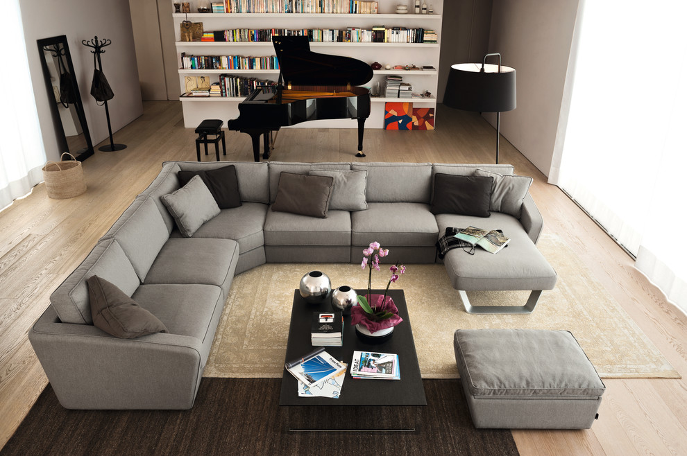 Modern Leather Sectional Living Room Modern with Endless Coffee Table Fabric Sectional Fabric Sofa Italian Design Leather Sectional Leather