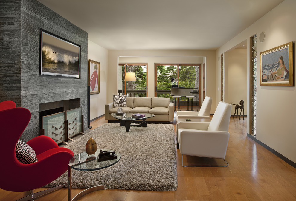 modern recliner Living Room Contemporary with fireplace screen modern icons modern recliner neutral colors santa barbara tv above