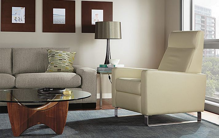 Modern Recliner Living Room Modern with Accent Chair Accent Chairs Cocktail Table Couch End Table Leather Chair Living