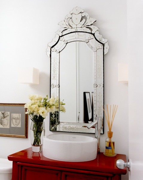 Modern Sconces Bathroom Transitional with Categorybathroomstyletransitionallocationminneapolis