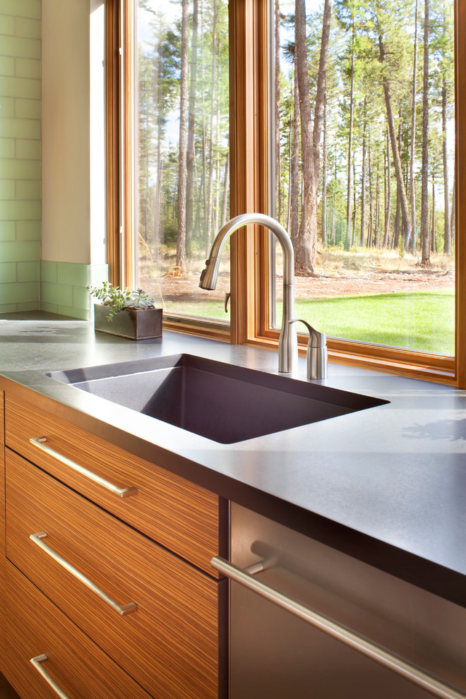 Moen Faucets Kitchen Contemporary with Contemporary Contemporary Kitchen Modern Mountain Home Mountain Modern Regional