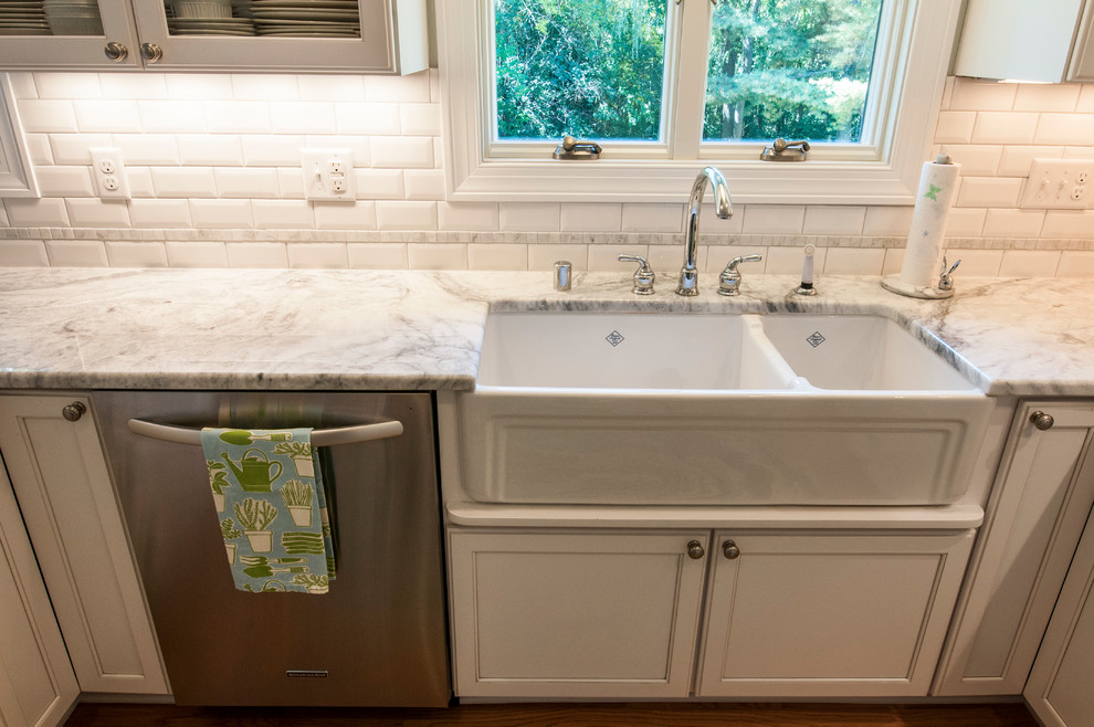 Moen Faucets Kitchen Transitional with Apron Sink Baking Center Bin Pulls Chrome Display Milwaukee Kitchen Remodeler Open
