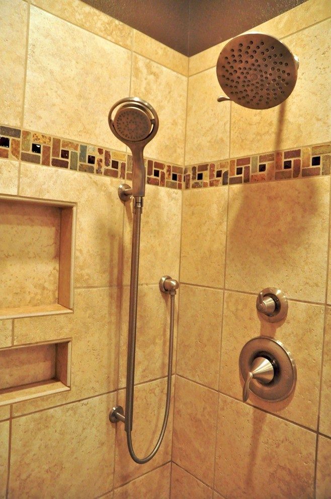 moen-shower-faucets-Spaces-Traditional-with-caesarstone-shitake-Dal ...