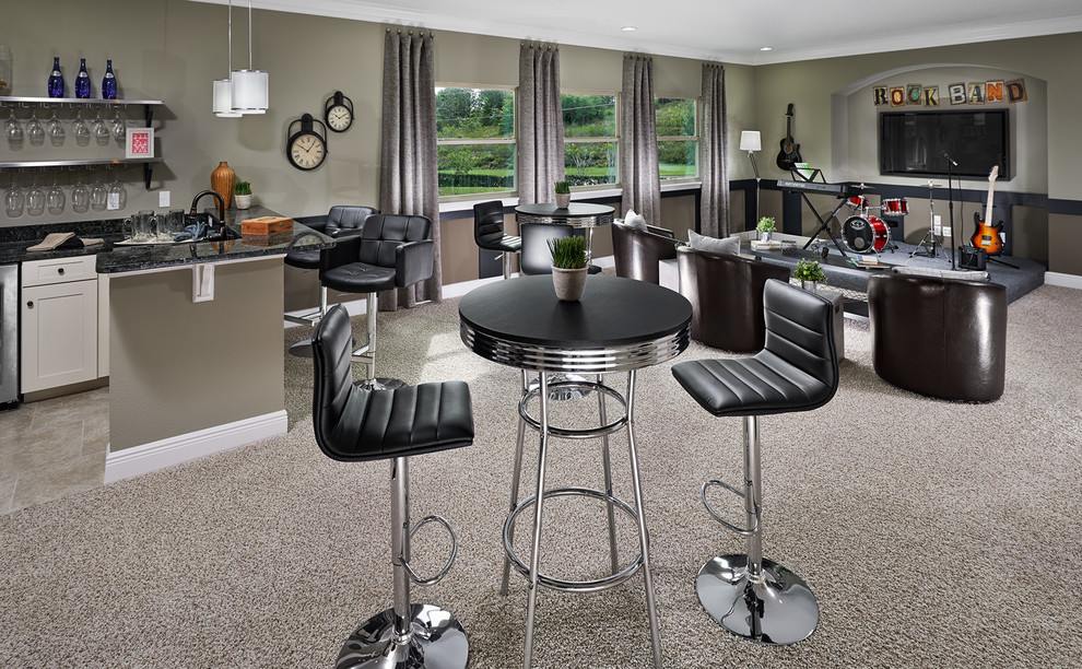 Mohawk Carpet Reviews Family Room Traditional with Black Bistro Table Black Leather Bar Stool Family Room Gray Carpet Gray