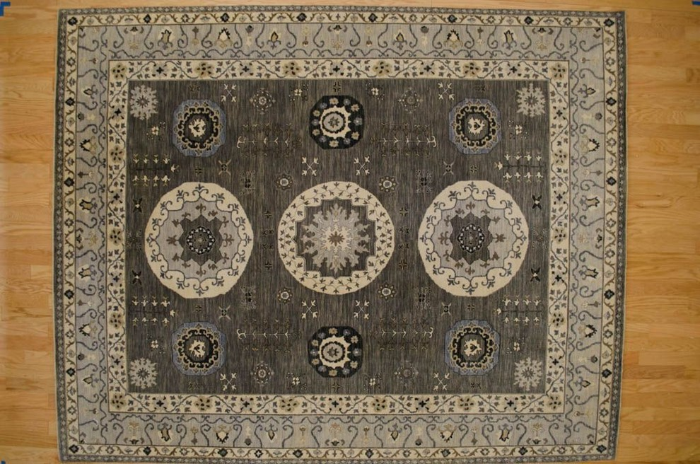 Momeni Rugs Spaces with Area Rug Bamboo Silk Rug Black Rug Blue Rug Carpet Chenile Rug