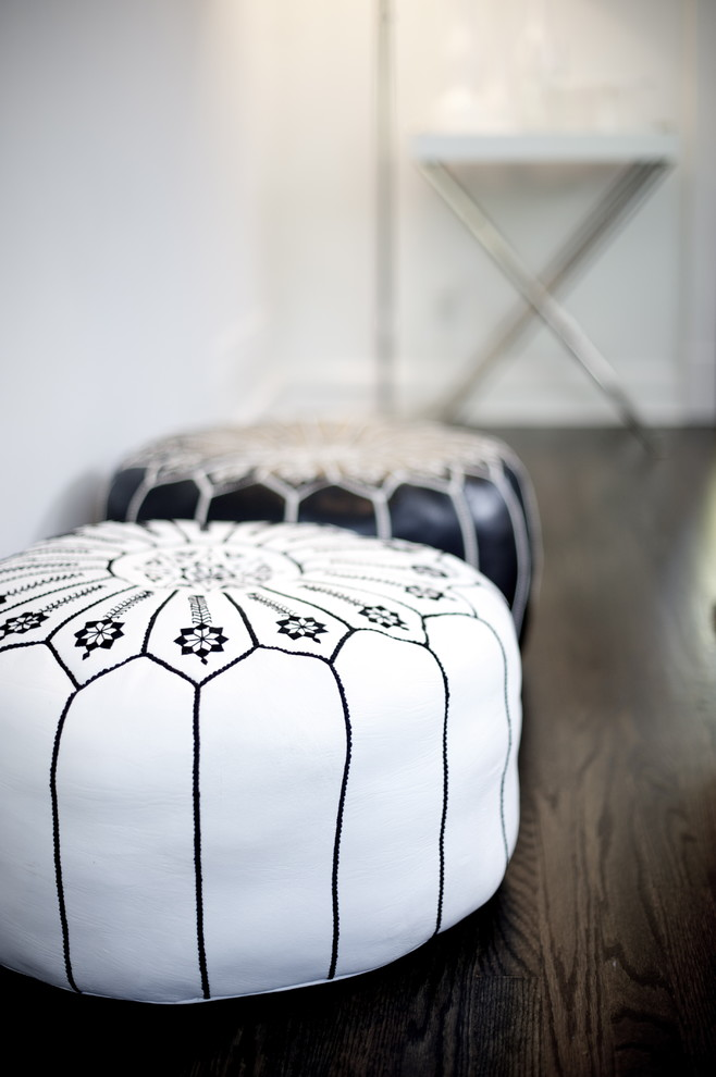 Moroccan Pouf Spaces Eclectic with Design Details Interior Styling
