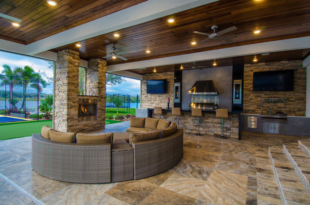 Napoleon Fireplace Patio Contemporary with Addition Backyard Bar Ceiling Fan Cypress Ceiling Fireplace Outdoor Kitchen Outdoor Living