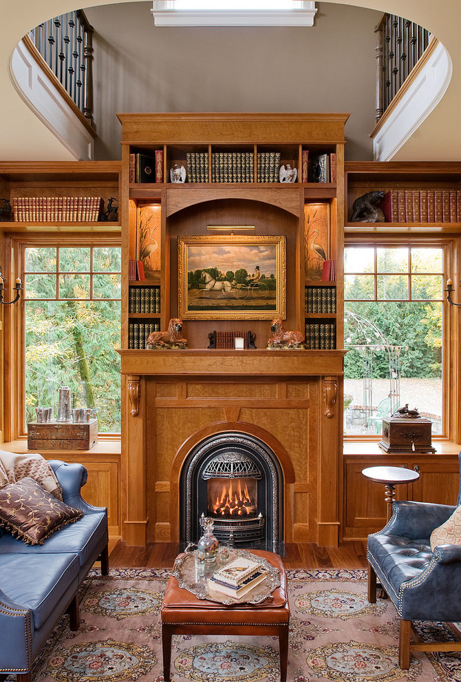 Napoleon Fireplace Inserts Home Office Victorian with Arched Fireplace Blue Sofa Built in Bookcase Built in Bookshelves Built in Shelves Corbel Fireplace
