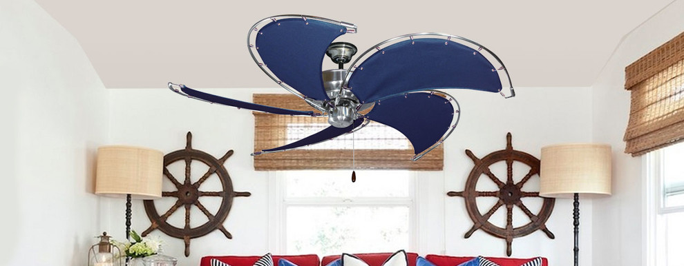 Nautical Ceiling Fans Living Room Beach with Canvas Blades Ceiling Fans Nautical Ceiling Fan