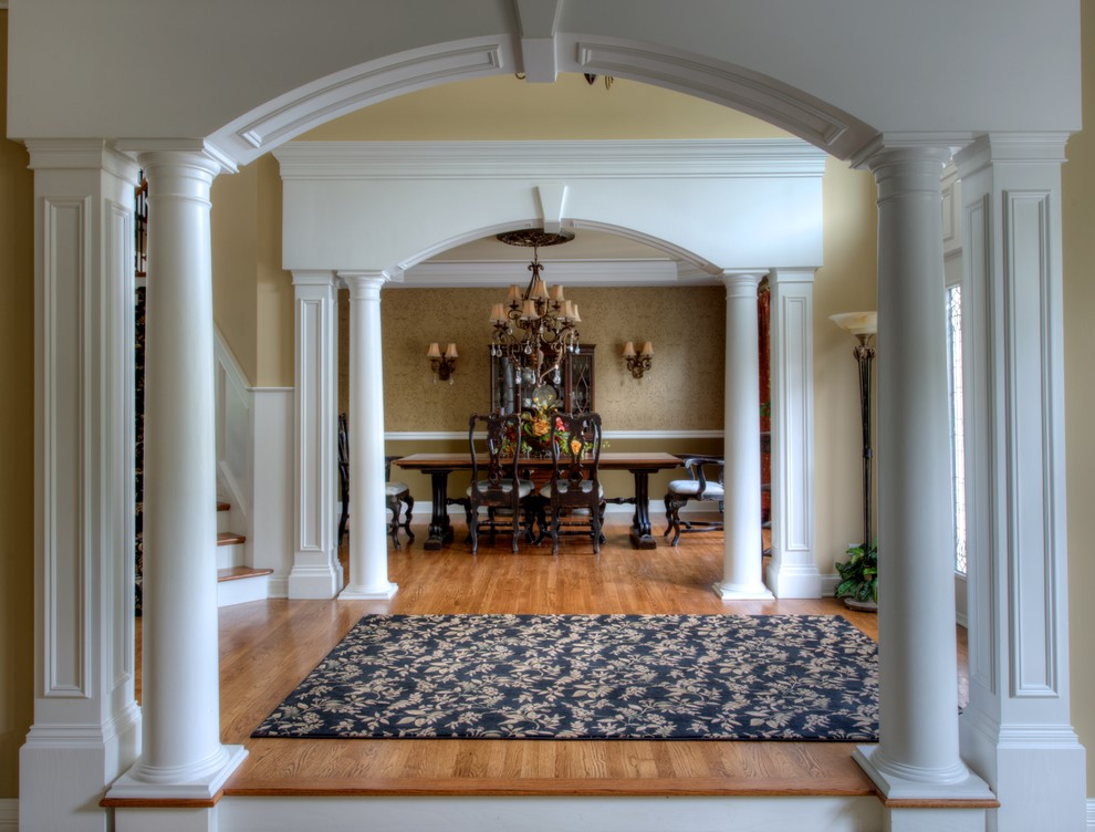 Navy Blue Area Rug Entry Traditional with Arched Entry Area Rugs Foyer Chandelier Dining Room Chandelier Entry Chicago Interior