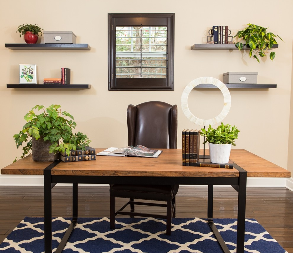 Navy Blue Area Rug Home Office Transitional with Desk Accessories Leather Desk Chair Linen Sofa Navy Blue Navy Blue Area