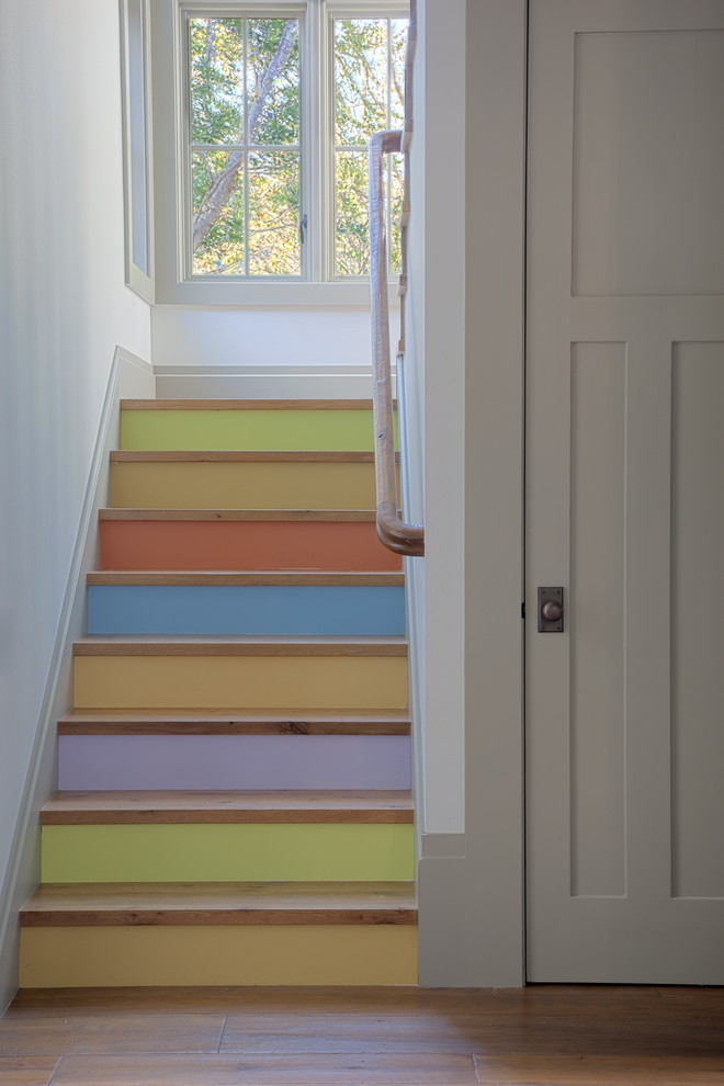 Non Slip Stair Treads Staircase Eclectic with Accent Stairs Color Colored Stairs Happy Stairs Painted Stairs