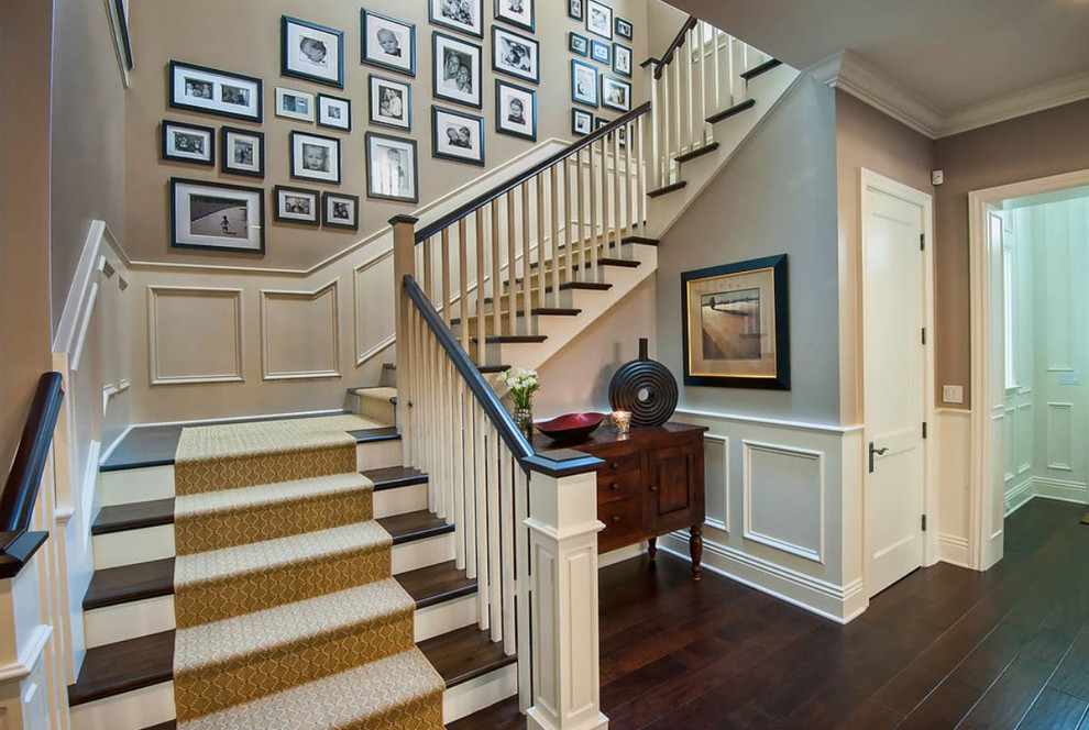 Non Slip Stair Treads Staircase Traditional with Dark Wood Flooring Dark Wood Floors Laminate Staircase Wood Floors