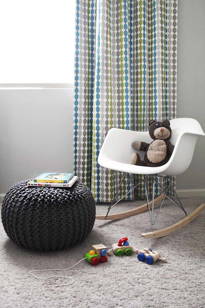 Nursery Rocker Nursery Modern with Carpet Curtain Draperies Gender Neutral Nursery Green and Brown Room Green And