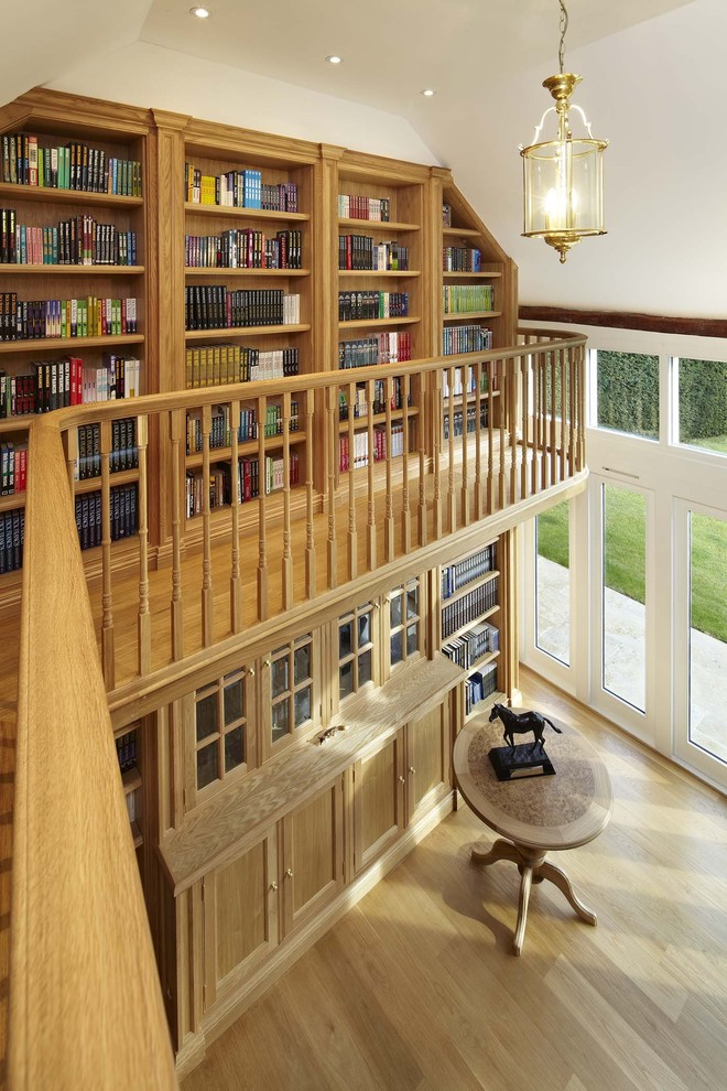 Oak Bookcase Home Office Traditional with Balcony Book Bookcase Books Indoor Balcony Library Reading Room Study